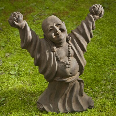 Dancing Buddha Statue Color: Alpine Stone OR-131-AS