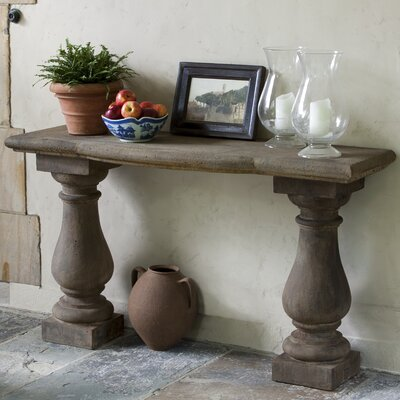 Vicenza Console Table Finish: Aged Limestone