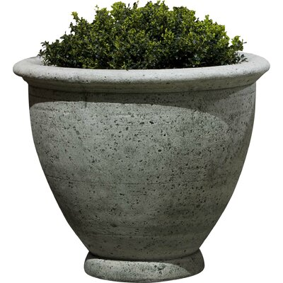 Cast Stone Pot Planter Finish: Alpine Stone, Size: Small P-520-AS