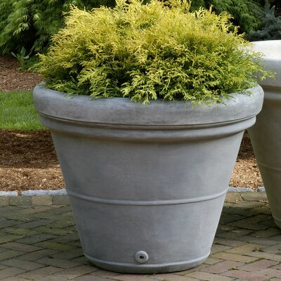 Estate Cast Stone Pot Planter Size: Large, Finish: Alpine Stone P-403A-AS