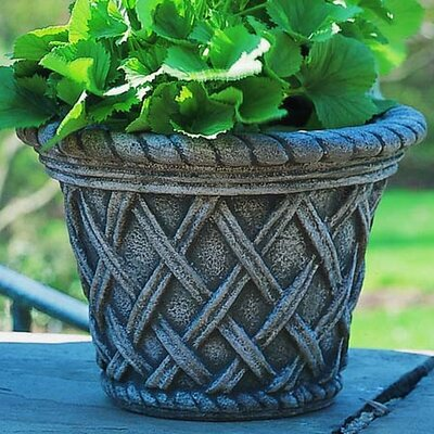 Cast Stone Pot Planter Size: Small, Finish: Alpine Stone P-132-AS