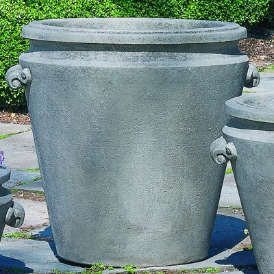 Cast Stone Pot Planter Size: Large, Finish: Alpine Stone P-293A-AS
