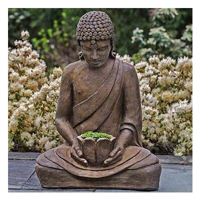 Lotus Buddha Statue Color: Alpine Stone OR-155-AS