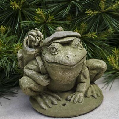 Golfer Frog Statue
