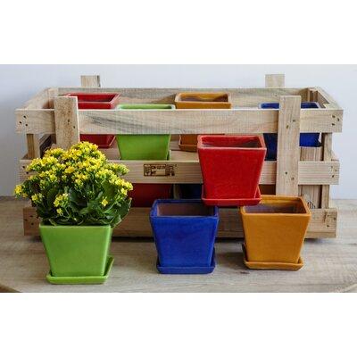 Voigt Garden Terrace Small Brights Crate Pot Planter RDBA1383 43865739