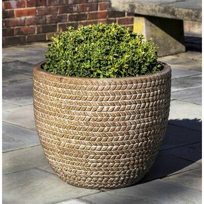 Katelin Sisal Weave Terra Cotta Pot Planter Color: Café Au Lait