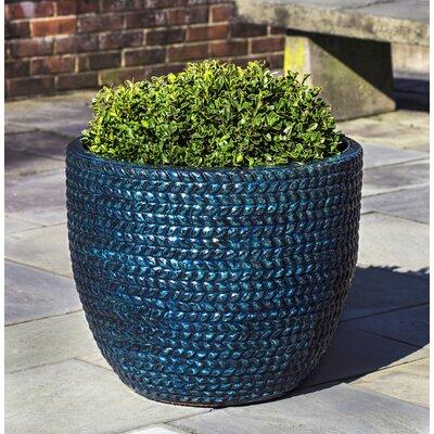 Katelin Sisal Weave Terra Cotta Pot Planter Color: Indigo Rain
