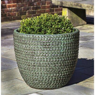 Katelin Sisal Weave Terra Cotta Pot Planter Color: Seafoam Green