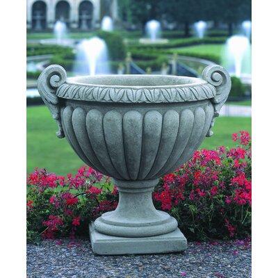 Cardine Handmade Volute Cast Stone Urn Planter Color: Ferro Rustico Nuovo