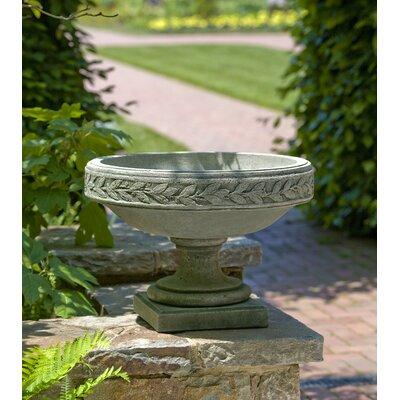Cardine Handmade Laurel Banded Cast Stone Urn Planter Color: Ferro Rustico Nuovo