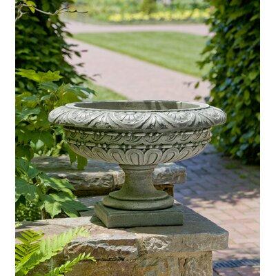 Cardine Handmade Rosette Cast Stone Urn Planter Color: Ferro Rustico Nuovo