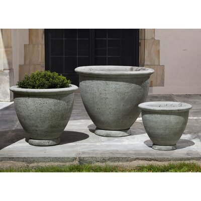 """Lidio Cast Stone Pot Planter Color: Alpine Stone, Size: 15"""" H x 17.5"""" W x17.5"""" D 149EA7A207D04FB28994C4AD07838622"""