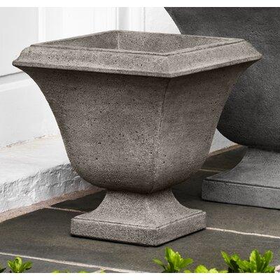 "Faustino Cast Stone Pot Planter Color: Alpine Stone, Size: 17.5"" H x 16.25"" W x 16.25"" D DRBH2011 43896868"