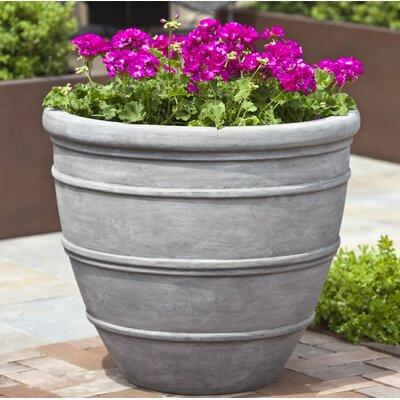 Petterson Fiberglass Clay Composite Pot Planter Color: Concrete Lite