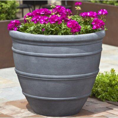 Petterson Fiberglass Clay Composite Pot Planter Color: Lead Lite