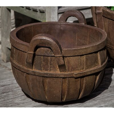 Giesen Basket Cast Stone Small Pot Planter Color: Alpine Stone BC0B77180C8C4C2EBF8603CB6FC854FF