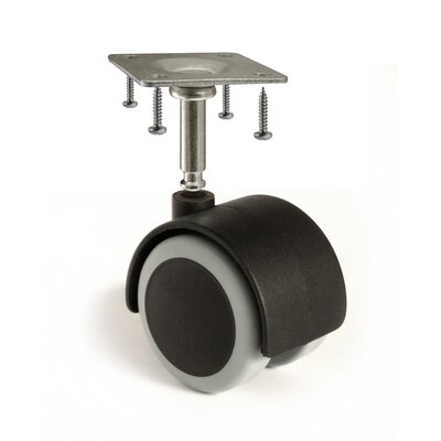 2 Floor-Protecting Rubber Caster Wheel with Stem