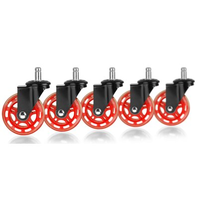 Rollerblade Office Chair Casters Color: Black/Red