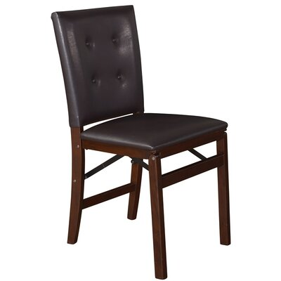 Kaktus Side Chair Upholstery: Espresso Bonded Leather