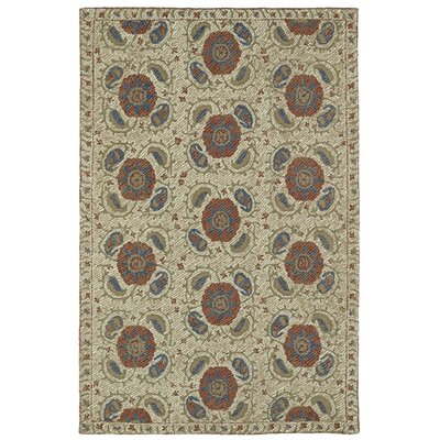 Valenzano Hand-Tufted Beige Area Rug Rug Size: Rectangle 36 x 56