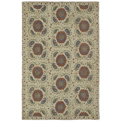 Valenzano Hand-Tufted Beige Area Rug Rug Size: Rectangle 8 x 10