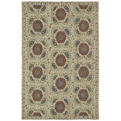 Valenzano Hand-Tufted Beige Area Rug Rug Size: Rectangle 9 x 12