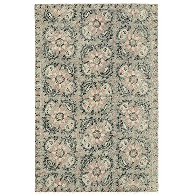 Valenzano Hand-Tufted Gray/Black Area Rug Rug Size: Rectangle 2 x 3