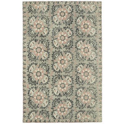 Valenzano Hand-Tufted Gray/Black Area Rug Rug Size: Rectangle 36 x 56