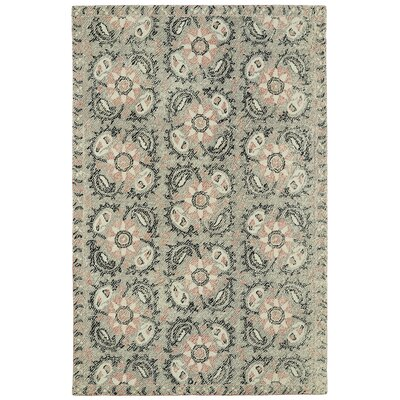 Valenzano Hand-Tufted Gray/Black Area Rug Rug Size: 5 x 9