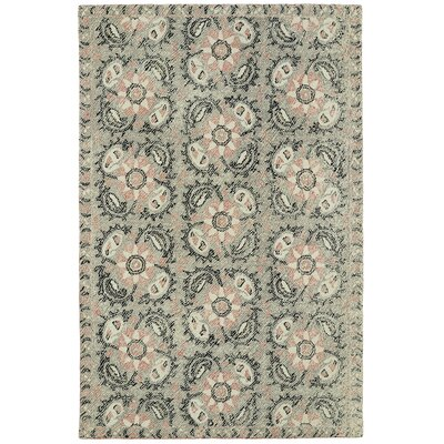 Valenzano Hand-Tufted Gray/Black Area Rug Rug Size: 8 x 10