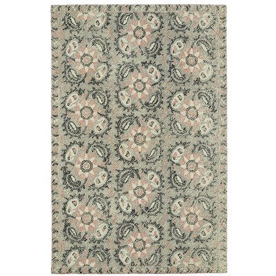 Valenzano Hand-Tufted Gray/Black Area Rug Rug Size: 9 x 12