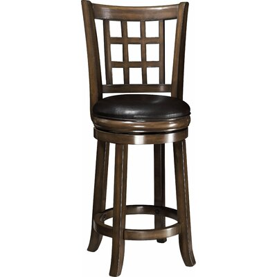 Nebraska 24 Swivel Bar Stool Finish: Oak