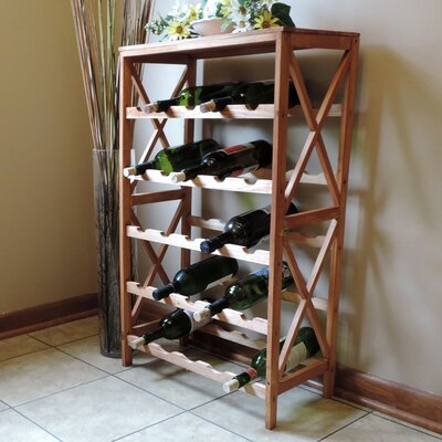 Davidsville 25 Bottle Floor Wine Rack