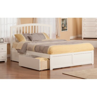 Wrington Storage Platform Bed Color: White, Size: Queen