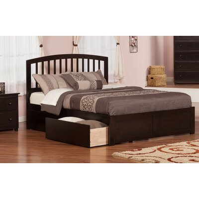 Allenville Storage Platform Bed Finish: Espresso, Size: Queen