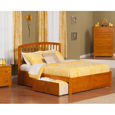 Wrington Storage Platform Bed Color: Antique Walnut, Size: Queen