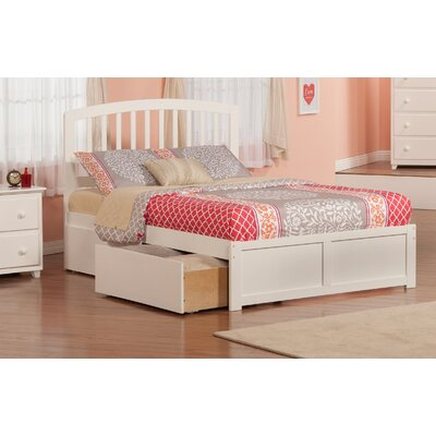 Allenville Storage Platform Bed Finish: White, Size: Full