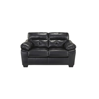 Mississippi Leather Loveseat Upholstery: Midnight