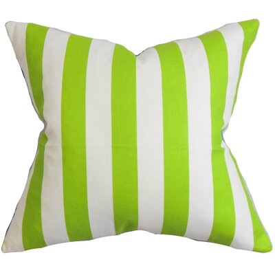 Knotts Outdoor 100% Cotton Throw Pillow Color: Chartreuse / White, Size: 18 H x 18  W