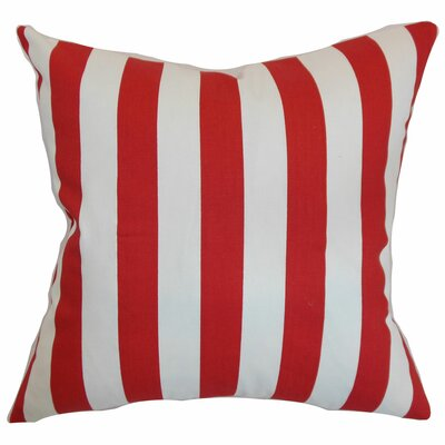 Knotts Indoor/Outdoor Stripes Cotton Throw Pillow Color: Lipstick, Size: 18 H x 18  W