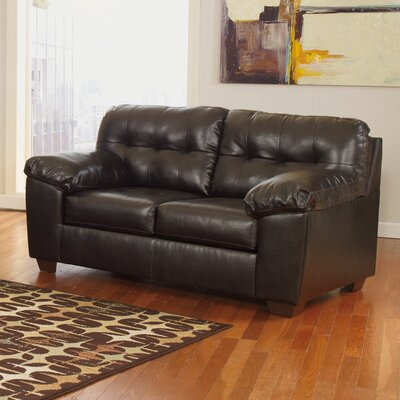 Manley Loveseat Upholstery: Chocolate