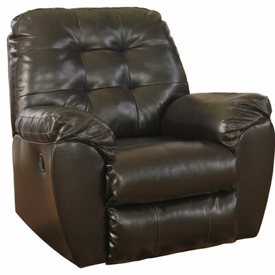 Manley Manual Rocker Recliner Upholstery: Chocolate
