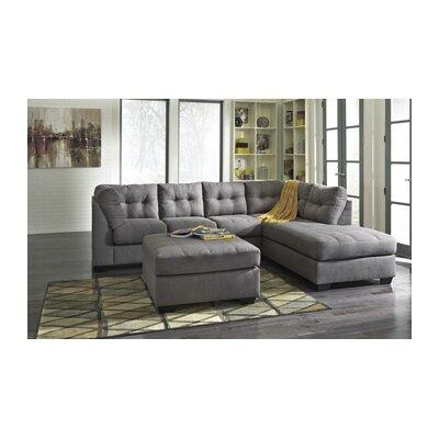 Ellersick Ottoman Upholstery: Charcoal