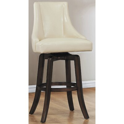 Red Barrel Studio Cajun 29  Swivel Bar Stool (Set of 2) Finish Cream  sc 1 st  BAR STOOLS & Red Barrel Studio Cajun 29