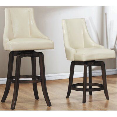 Cajun 29 Swivel Bar Stool (Set of 2) Finish: Cream