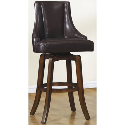 Cajun 29 Swivel Bar Stool (Set of 2) Finish: Dark Brown