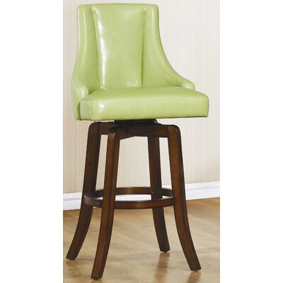 Cajun 29 Swivel Bar Stool (Set of 2) Finish: Green