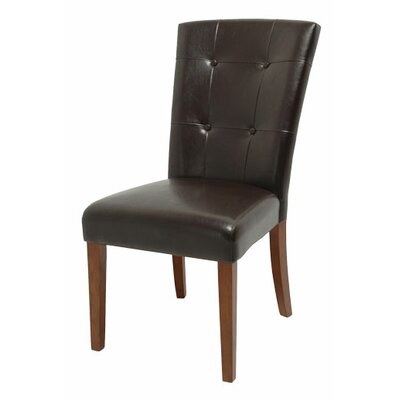 Valholl Side Chair (Set of 2) Chair Upholstery: Dark Brown