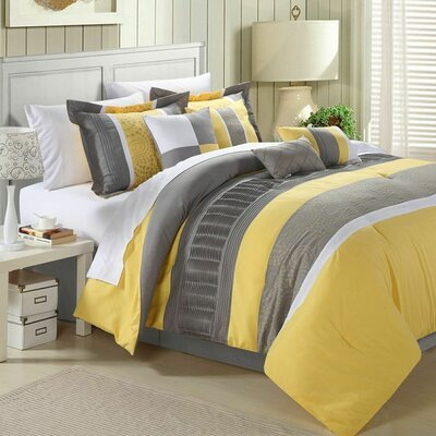 Strong Arm 8 Piece Comforter Set Size: King