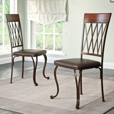 Gravity Genuine Leather Upholstered Dining Chair